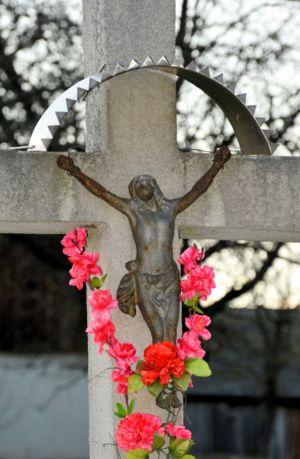 Krzyż Ul. K. Wielkiego Skręt Na  Ustronie Zbliżenie