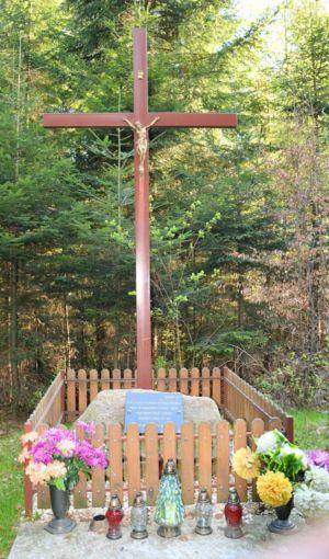 Krzyż Upamiętniający  Miejsce Sopczynku Ok.500 Mieszkańców Zalasowej I Okolic, Ofiar Epidemii Tyfusu I Cholery W Latach 1846-1853
