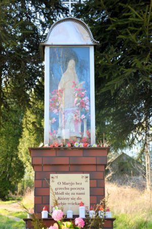 Zbliżenie Kapliczki Ul. Tarnowska Na Posesji P. G