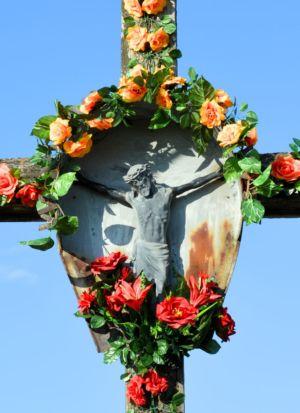Zbliżenie Krzyża Przy Ul. W Jagiełły Obok P. S